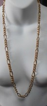 Signed Erwin Pearl Gold Plated Heavy Chain Necklace - $34.65