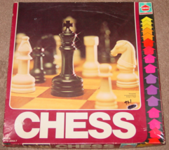 """CHESS GAME KING 2 1/2"""" SIMULATED WOOD GAMEBOARD 1979 HASBRO COMPLETE EXC... - $20.00"""