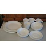 Corelle Winter Frost Dinner Set 24 Pc Berry Bowl Lunch Plates Mugs Dinne... - $45.53