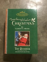 2001 Hallmark Ornament Tiny Reindeer 3rd in Twas The Night Before Christ... - $12.99