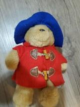 Paddington Bear Stuffed Plush 10 Inches Eden Red Coat  - $25.15