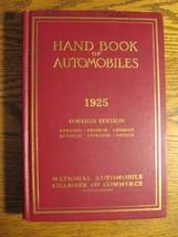 1925 Handbook of Automobiles Hand Book Stutz Auburn Buick Cadillac Hardc... - $153.45