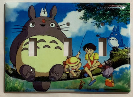 Totoro Fishing Light Switch Outlet Toggle Rocker Wall Cover Plate Home decor image 3