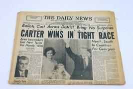 ORIGINAL Vintage Nov 3 1976 Jimmy Carter Elected PA Daily News Newspaper - $59.39