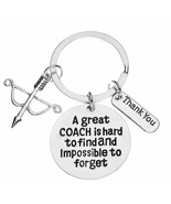 Archery Coach Keychain Archery Gift Great Coach is Hard to Find But Impo... - $9.99