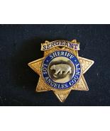 Sergeant Sheriff badge Los Angeles County, Movie Prop, Movie Memorabilia... - $188.99
