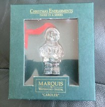 Christmas Endearments Third In Series Caroler Waterford Crystal - $28.47