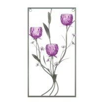 Magenta Flower Three Candle Wall Sconce - $50.33