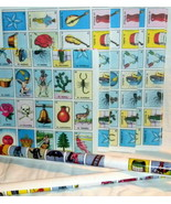 6 X Authentic Mexican Loteria Bingo Chalupa Game Poster Rolls To Make Bo... - $19.95