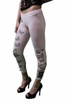 Iron Fist Flutter Die Pink Leggings Size: XS