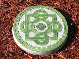 "1 DIY 14""x2"" ROUND CELTIC STEPPING STONE MOLD MAKE CRAFTS AT HOME FOR $1.00 EACH image 2"