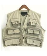 FIELD & STREAM Multi Pocket Fishing Vest Utility  Jacket Khaki Men's XXL... - $14.25