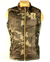 Tommy Hilfiger Zip Front Brown & Green Camouflage Insulated Vest Youth B... - $52.49