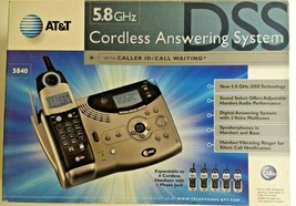 AT&T (5840) 5.8 GHz Intercom / 1-Line Cordless Phone System W/ 3 Mailboxes & AC - $28.04