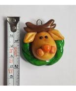 Clay dough Reindeer face Christmas xmas Tree Holiday season  Ornament Pr... - $9.05