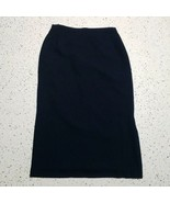Laura Scott Women's Dressy Skirt ~ Sz 14 ~ Navy Blue ~ Lined ~ Stretch W... - $24.74
