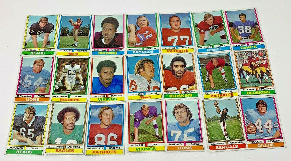 Vintage Pro Draft Game Parker Brothers Complete 50 Cards Football 1974 (19-1997)