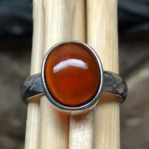Natural Cabochan Hessonite Garnet 925 Solid Sterling Silver Designer Rin... - $89.09