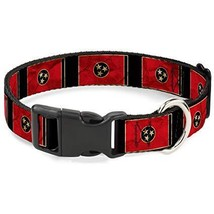 "Buckle-Down Plastic Clip Collar - Tennessee Flag/Black Distressed - 1/2""... - £13.19 GBP"