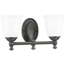 Progress Lighting P3028-74 2-Light Bath Bracket with White Opal Glass, V... - €120,55 EUR