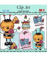 Bee My Valentines Clip Art - $1.35