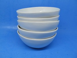 """Fitz And Floyd Everyday  White 6 1/4"""" Cereal Soup Bowls Set Of 5 Bowls EUC - $48.02"""