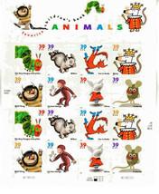 Favorite Children's Book Animals, Sheet 16 x 39 cent USPS Postage Stamps... - $21.78