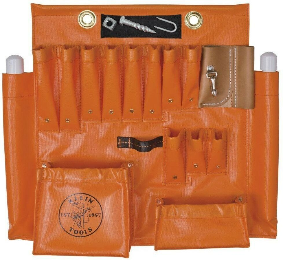 Primary image for Klein Tools Tool Storage Belt 2-Pouch 18-Pocket Synthetic Fiber Sewn-in Magnet