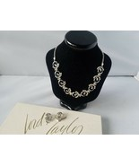 Lord & Taylor Vintage Jewelry Set Silver Tone Necklace & Clip On Earrings - $27.89