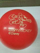 Vintage Brunswick Red Orange Walt Disney Team Mickey Mouse Bowling Ball ... - $39.59