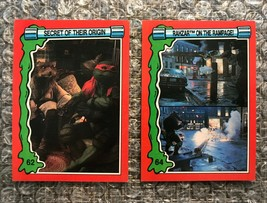 1991 Topps Teenage Mutant Ninja Turtles TMNT II Movie Cards Lot: #62 & #64 - $3.92