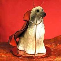 Afghan Tan & White Devilish Pet Figurine - $14.99
