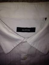 Alfani Men Long Sleeve White Shirt Size XL 100% Cotton - $11.88