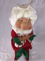 Vintage Santa's Best Mrs Claus Sitting In Rocking Chair Collectible Orna... - $6.98