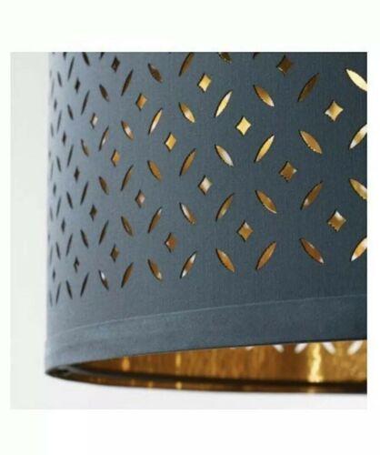 "IKEA NYMÖ Lamp shade, blue, brass color, 23 "" image 3"