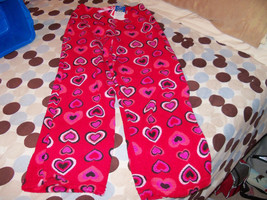 Red  PJ Pants With Hearts Size 7/8 (Medium) Girl's New LAST ONE - $17.80