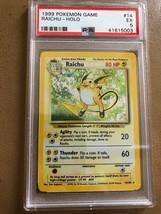 Pokemon Card Base Set 4th Print Holo Rare UK Raichu 14/102 PSA 5 Mint 1999 - $14.70