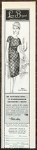1964 Lane Bryant Print Ad Be Scintillating in Embroidered Shimmery Crepe - $9.89