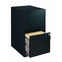 Black Metal 2-Drawer Vertical Filing File Cabinet - Made in USA - €120,75 EUR