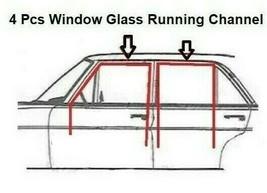 Rubber Door Window Running Channel Gasket Seal Mercedes w108 4 Pcs - $65.22