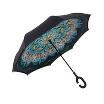Drop Shipping Wind Resistant Folding Reverse Umbrella Double Layer Inver... - $24.31