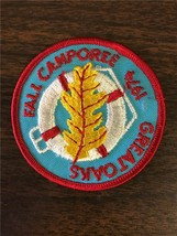 """Boy Scout Great Oaks Fall Camporee 1974 Iron On Embroidery Patch 3"""" Diam... - $9.99"""
