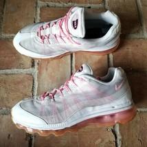 Nike Air Max 95 Women 9 Dynamic Flywire Fashion Shoe White/Pink/Grey 553... - £22.53 GBP
