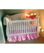 Pink Cotton Ruffled Crib Skirt / Mini Crib Skirt - $25.99+