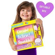 GirlZone: Glitter Rainbow Notebook and Pom Pom Pen Gift Set for Girls image 8
