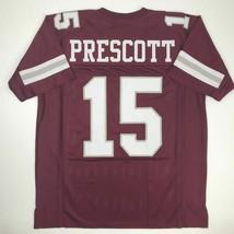 New DAK PRESCOTT Mississippi State College Custom Stitched Football Jers... - $49.99