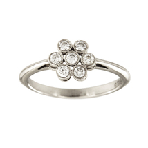 Tiffany & Co. Platinum Enchant Diamond Flower Ring - $1,100.00