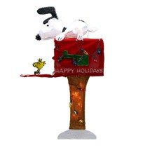 """Product Works 36"""" Peanuts Snoopy Red Mailbox Animated Christmas Yard Decor - $92.80"""