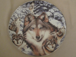 WOLF collector plate EYES OF THE FOREST Diana Casey WINDOW TO THE SOUL w... - $28.06