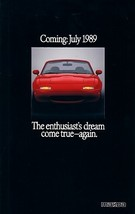 1989/1990 Mazda MX-5 MIATA introductory sales brochure catalog US 90 MX5 - $10.00